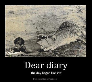 It's a journal, dahling, not a diary...